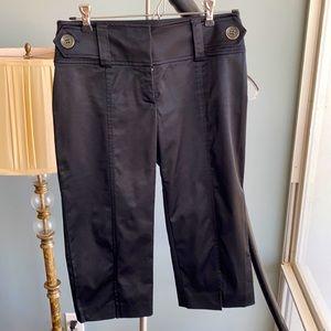 Cache black silky capri pants